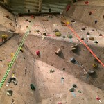 climbing wall floor on up view